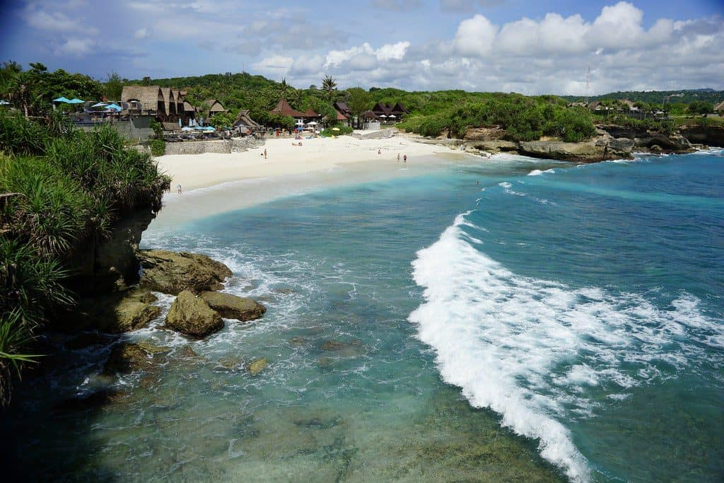 Nusa Lembongan become tourist attraction because of its good surfing , diving and snorkelling